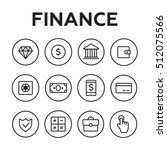 finance icons. finance icons... | Shutterstock . vector #512075566