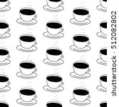Coffee Cup Pattern With Hand...