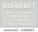 font and abc letters print... | Shutterstock .eps vector #512082895