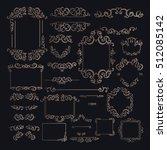 vintage frames  dividers ... | Shutterstock .eps vector #512085142