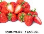fresh and tasty strawberries | Shutterstock . vector #51208651