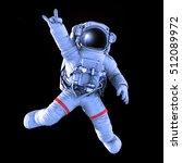 rocking astronaut on a black... | Shutterstock . vector #512089972