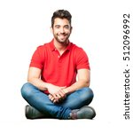 man sitting smiling | Shutterstock . vector #512096992