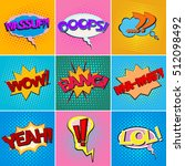 colorful comic book speech... | Shutterstock .eps vector #512098492