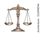 scales of justice. vintage... | Shutterstock .eps vector #512098546