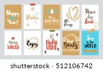 set of christmas gift tags.... | Shutterstock .eps vector #512106742