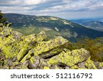 Old Stones With Yellow Moss In...