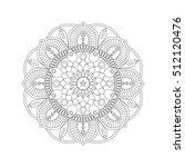 flower mandalas. vintage... | Shutterstock .eps vector #512120476