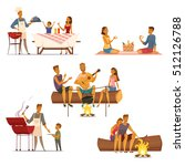 barbecue picnic outdoor weekend ... | Shutterstock .eps vector #512126788