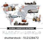world logistic network template ... | Shutterstock .eps vector #512128672