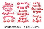 hand drawn lettering design.... | Shutterstock .eps vector #512130598
