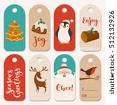 christmas vector labels with... | Shutterstock .eps vector #512132926