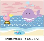 vector card with animals 01 | Shutterstock .eps vector #51213472
