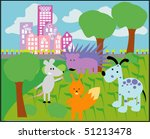 vector card with animals 03 | Shutterstock .eps vector #51213478