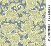 seamless paisley pattern in... | Shutterstock . vector #512136898