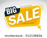 big sale and special offer  end ... | Shutterstock .eps vector #512138836