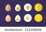 set of eggs  flat vector | Shutterstock .eps vector #512140246