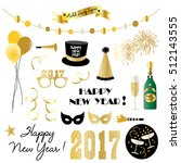 new years eve clipart | Shutterstock .eps vector #512143555
