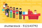 store with customers crowd and... | Shutterstock .eps vector #512143792