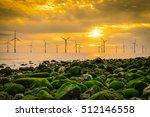 offshore wind turbine in a wind ... | Shutterstock . vector #512146558