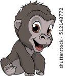 Stock vector cute baby gorilla 512148772
