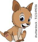 cute baby kangaroo | Shutterstock .eps vector #512149036