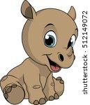 cute little rhino | Shutterstock .eps vector #512149072