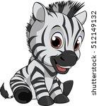 cute funny zebra | Shutterstock .eps vector #512149132