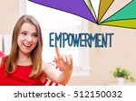empowerment concept with young... | Shutterstock . vector #512150032