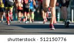 marathon running race  people... | Shutterstock . vector #512150776