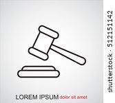 line icon   judge gavel | Shutterstock .eps vector #512151142