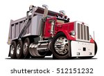 vector cartoon dump truck.... | Shutterstock .eps vector #512151232