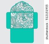 lasercut vector wedding... | Shutterstock .eps vector #512151955