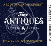 fine antiques. hand crafted... | Shutterstock .eps vector #512152462