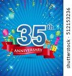 celebrating 35 years... | Shutterstock .eps vector #512153236