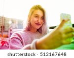 young beautiful caucasian... | Shutterstock . vector #512167648