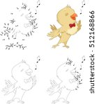 cartoon nightingale. coloring... | Shutterstock .eps vector #512168866
