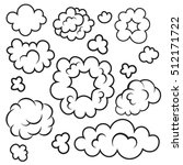 clouds air. clouds cartoon.... | Shutterstock .eps vector #512171722