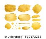 set of gold shining brush... | Shutterstock . vector #512173288