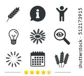 agricultural icons. gluten free ... | Shutterstock .eps vector #512173915