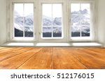 desk of free space and window... | Shutterstock . vector #512176015