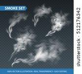 delicate white cigarette smoke... | Shutterstock .eps vector #512176342
