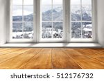 wooden table and window of... | Shutterstock . vector #512176732