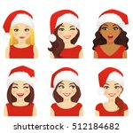 set of women with different... | Shutterstock .eps vector #512184682