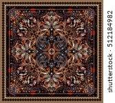 design for square pocket  shawl ... | Shutterstock .eps vector #512184982