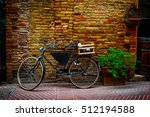 Old Bike With Wooden Box On Th...