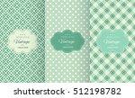 retro mint and emerald vector... | Shutterstock .eps vector #512198782