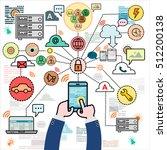 design concepts for data... | Shutterstock .eps vector #512200138