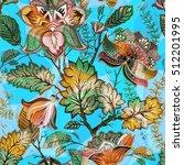 vintage flowers seamless...   Shutterstock .eps vector #512201995