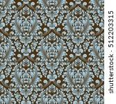 vector damask seamless pattern... | Shutterstock .eps vector #512203315